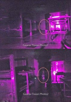 These two photos were captured inside the Beechworth Lunatic Asylum by Gaurav Tiwari, founder of the Indian Paranormal Team and a member of Tiller's crew. Ghost Pictures, Creepy Pictures, Ghost Pics, Haunted Asylums, Haunted Houses, Abandoned Asylums, Duende Real, Paranormal Pictures, Spirit Ghost