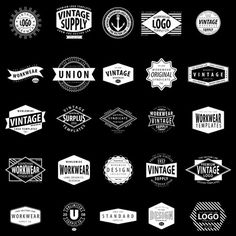 A collection of 25 logo templates that include optional layers of texture with your choice of vector or bitmap tiff distress. Each logo has ...
