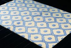 Carter Rug, Ivory/Blue   Dressers, Rugs, Mirrors & More   One Kings Lane