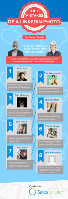 The Top 8 Mistakes of a LinkedIn Profile Photo [INFOGRAPHIC] - @socialmedia2day