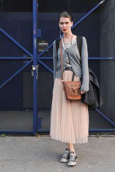 Paris Fashion Week Model Street Style: Anna Selezneva