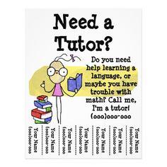 girl tutor flyer