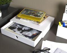 Organizador de mesa Diniz - Branco