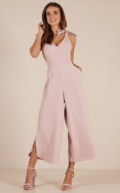 84ffb28574 Fancy That jumpsuit in mauve Produced By SHOWPO
