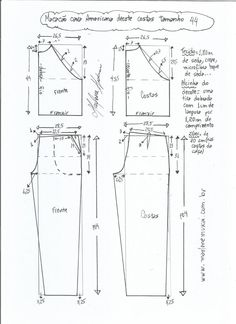 Comments In Topic Dress Sewing Patterns, Sewing Patterns Free, Sewing Tutorials, Clothing Patterns, Sewing Projects, Sewing Pants, Sewing Clothes, Diy Clothes, Jumpsuit Pattern