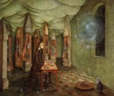 La revelación o el relojero, by Remedios Varo