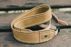 Leather photo camera strap
