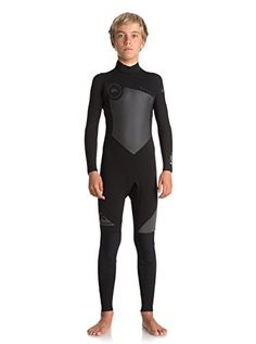 Quiksilver Boys 43Mm Syncro Series Back Zip Gbs Full Wetsuit Back Zip Gbs  Wetsuit Black 16 5b80eab96