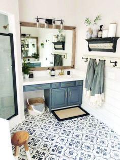 A DIY Bathroom Makeover Floors . - A DIY bathroom makeover floors … – - Big Living Rooms, Interior Minimalista, Design Minimalista, Bad Inspiration, Bathroom Inspiration, Painting Inspiration, Modern Bathroom, Bathroom Gray, Master Bathrooms