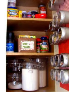 How To: organize a spice cabinet
