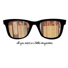 060af80816e17 Vista o óculos da imaginação! Leitura, Frases Sobre Livros, Palavras,  Arquitetura,