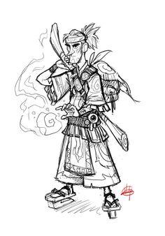 Mystic Warrior Sketch by *LuigiL on deviantART