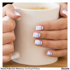 Polka dot nail design - Customizable. Pastel Polka Dot Waves Minx® Nail Wraps