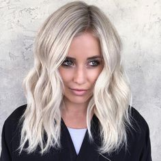 Videos from habit salon ( cool blonde hair, icy blonde, ombre b Cool Blonde Hair, Icy Blonde, Platinum Blonde Hair, Bright Blonde Hair, White Blonde Highlights, Ombre Hair, Hair Dos, Pretty Hairstyles, Bob Hairstyles