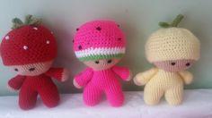 Crochet big head baby doll fruity