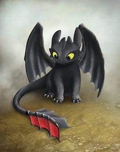 Buy 'Toothless Dragon inspired from How To train Your Dragon.' by Art Landing