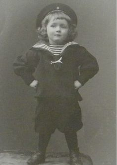Boy in a Sailor Suit Edwardian Costume Jwersen Germany 1903