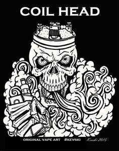 Vape T-shirt-vape art by Kevski by ghettorecyclestands on Etsy