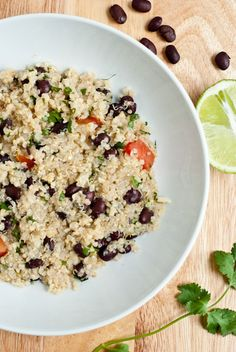 Lime Cilantro Black Bean Quinoa - Update 6/5- Made this for dinner. DELISH! Update 5/26/12- Went to a party last night and another guest made this. INCREDIBLY yummy!!! Definitely making it sometime soon!!
