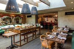 Stylish: The breakfast room at No. 38 where guests can watch the chef prepare their mornin...