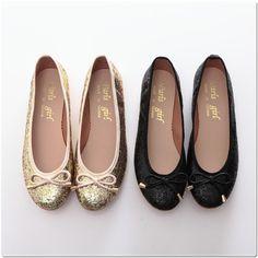 BN Bowed Bling Bling Ladies Wedding Ballet Flats Ballerina Shoes Black Champagne | eBay $24