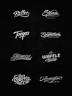 Lettering Logo Design, Vol. 3 on Behance