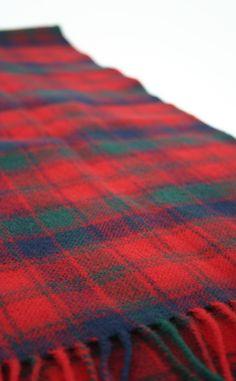 Fabric detail in Robertson Modern tartan