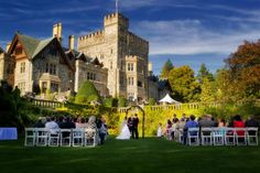 Hatley Estate at Royal Roads University is the perfect place for an outdoor wedding on Vancouver Island. With a variety of wedding packages available, your guests will be blown away by the old world glamour of this venue. Vancouver British Columbia, Park Weddings, Island Weddings, Wedding Planning Quotes, Wedding Ideas, Hatley Castle, Wedding Games For Guests, Victoria Wedding, Star Wars Wedding