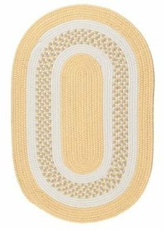 """Colonial Mills Flowers Bay Fb31 5'0"""" x 7'0"""" Yellow / White / Linen Oval Area Rug by Colonial Mills. $180.00. Flowers Bay FB31 yellow / white / linen rug by Colonial Mills Inc Rugs is a braided rug made from synthetic. It is a 5 x 7 area rug oval in shape. The manufacturer describes the rug as a yellow / white / linen 5'0"""" x 7'0"""" area rug. Buy discount rugs with Buy Area Rugs .com SKU fb31r060x084