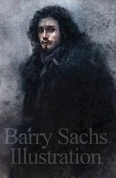 Jon Snow Game of Thrones 11x17 Print by BarrySachsBarryGood