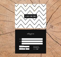 Alondra double sided gift certificate template Instant