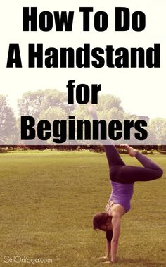 Video tutorial on how to do a handstand at the wall for beginners