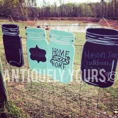 Customizable Mason Jar Signs by antiquelyyours on Etsy, $25.00