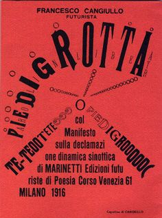 Futurist book design and typography