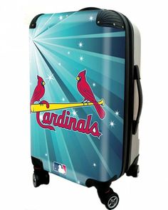 """St Louis Cardinals, 21"""" Clear Poly Carry-On Luggage by Kaybull"""