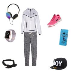 """""""Ready to workout """" by veinichan on Polyvore featuring NIKE, Madewell, Frends, BOY London and NLY Accessories"""