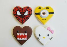 Valentine character cookies