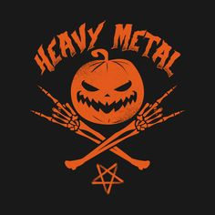 Shop Heavy Metal Jack O' Lantern heavy metal jack o lantern t-shirts designed by Monolyn as well as other heavy metal jack o lantern merchandise at TeePublic. Heavy Metal Tattoo, Heavy Metal Art, Halloween Logo, Halloween Design, Gothic Metal, Gothic Rock, Screamo Bands, Scary Pumpkin Faces, Lantern Tattoo