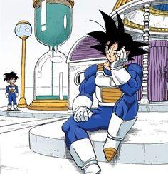 Dragon 🐉 Ball Z: Goku & Gohan training in the Hyperbolic Time Chamber Dragon Ball Gt, Dragon Ball Z Shirt, Dragon Ball Image, Dbz Manga, Manga Dragon, Anime Echii, Anime Comics, Goku And Gohan, Dbz Vegeta