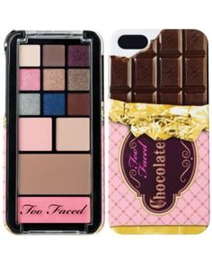 A chocolate bar-themed iPhone 5 case filled with a tempting array of shadows, plus a blush and bronzer. Filled with 11 matte and shimmer eye shadows, plus a wearable blush and bronzer, this palette pops out so you can carry it with you for on-the-go touch-ups. This set contains:- 0.014 oz Eyeshadow x 9 in Vanilla, Medium Brown, Plum, Pink, Rose Gold, Moss, Silver, Dark Blue, Matte Brown- 0.032 oz Eyeshadow in Matte Caramel, Peach- 0.053 oz Blush in Coral- 0.11 oz Matte Bronzer in Chocolate…