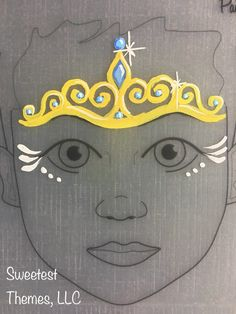 Ball princess crown face painting