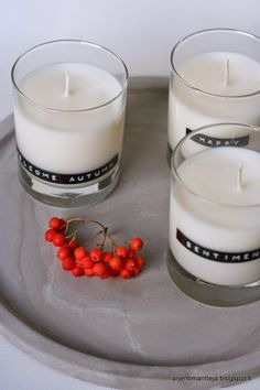 Arjen timantteja - Home made soy candles