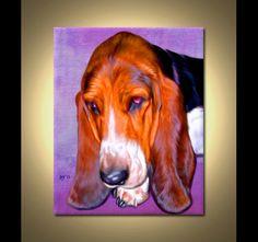 Basset Hound Portrait  Custom Basset Hound by ScottieInspired, $49.99