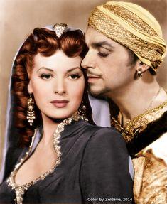 Maureen O'Hara and Douglas Fairbanks, Sinbad the Sailor (1947).
