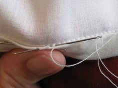 The Slipstitch by Historical Sewing. (Use for hems, etc.) This ladys entire site is AMAZING!!!.