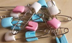 99p Baby safety pins nappy pins new baby cards by KelwayCraftsYorkshir