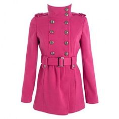 Pink swing detail collar coat - Jaeger - The brighter side of life ...