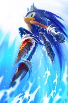 Beriku : Sonic the Hedgehog (ソニック・ザ・ヘッジホッグ Sonikku za Hejjihoggu? Sonic el erizo) es un personaje de videojuegos y la mascota creada por y. Hedgehog Art, Sonic The Hedgehog, Shadow The Hedgehog, Sonic And Amy, Sonic And Shadow, Sonic Fan Art, Video Game Art, Video Games, Pokemon