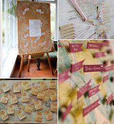 Destination Wedding Ideas - Map Themed Wedding Decor