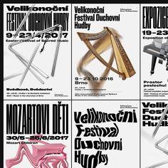 Brno Philharmonic, 5 Festivals / Uncommissioned Graphic Design Posters, Typography Design, Easter Festival, Vegan Milk, Type Setting, Reference Images, Advertising Design, Identity Design, Illustration Art